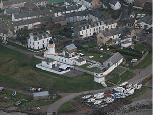 Cromarty Lighthouse Bulding from the air