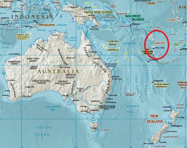 Where Is Vanuatu Located On A World Map.Aberdeen University To Espiritu Santo Vanuatu Jeremy Thompson S