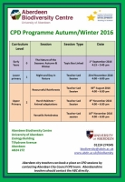 Autumn/Winter CPD programme launched!
