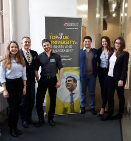 (left to right) Dobrina Mileva, Mario Karapandov, Martyn Needham, Stefan Pelev, Mina Filipova, Nikolett Arabadzsov.