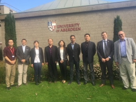 SDNU Delegation meeting senior members of staff from the University of Aberdeen and Business School