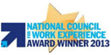 National Council for Work Experience Award Winner