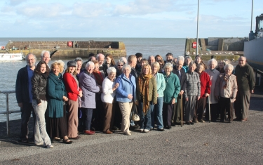 Group photo in front of Johnshaven harbour
