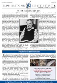 Cover of newsletter.