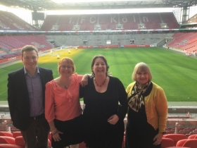 Professor Lorna McKee's Cologne visit for launch of Health Literacy in the Workplace 2015 - 2018