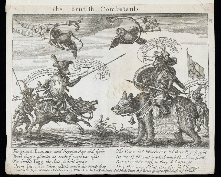 Francis Barlow, The Brutish Combatants, c.1679-80, Wellcome Collection