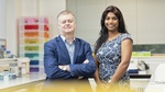 Professor Andy Porter and Dr Soumya Palliyil - Director and Manager of the Scottish Biologics Facility