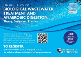 Biological Wastewater Treatment and Anaerobic Digestion Online CPD Course