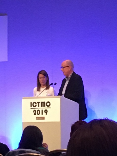 Dr Katie Gillies with Andrew Worrall at ICTMC2019