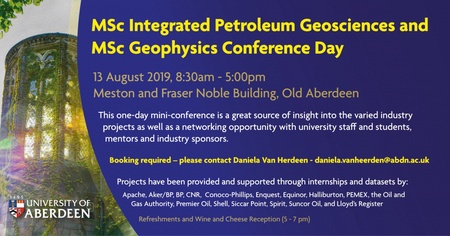 MSc Integrated Petroleum Geosciences and MSc Geophysics Conference