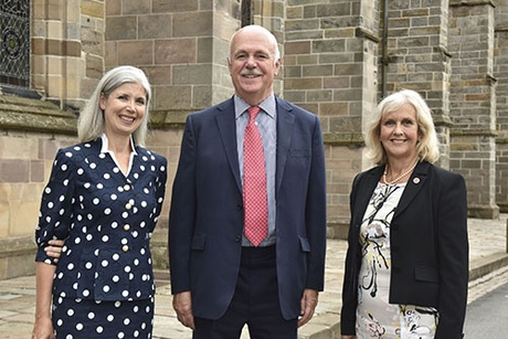 From left to right - Anne-Michelle Slater, Lord Pentland, and Susan Stokeld.