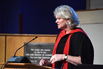 Professor Abbe Brown delivering her inaugural lecture