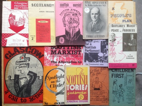 Photograph of a collection of political pamphlets