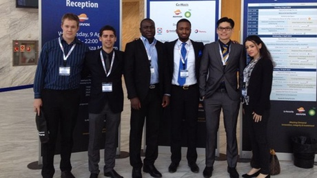 Subsea Engineering students at the Marine, Construction & Engineering Deepwater Development conference in Madrid