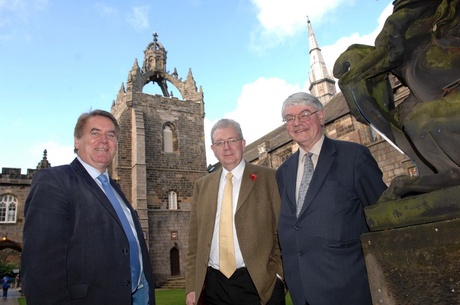 Prof Cairns Craig, Mike Russell and Martin Mansergh