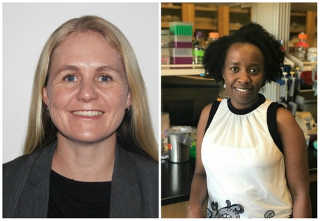 Dr Claire Hoving (left) and Dr Liliane Mukaremera become the first two scientists appointed to the University of Aberdeen's AFGrica Unit based within the University of Cape Town