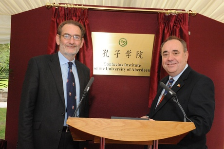 Prof Diamond with First Minister Alex Salmond