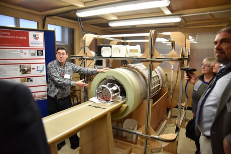 A demonstration of the new Fast Field Cycling MRI technology being developed at the University of Aberdeen