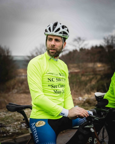 Mark Beaumont took time to meet with the NC500 See Cancer team to discuss the route and preparation techniques