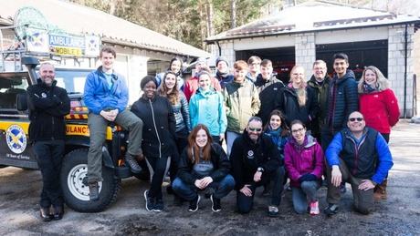 14 Aberdeen medical students were taken on the rural GP 'taster' course on Deeside