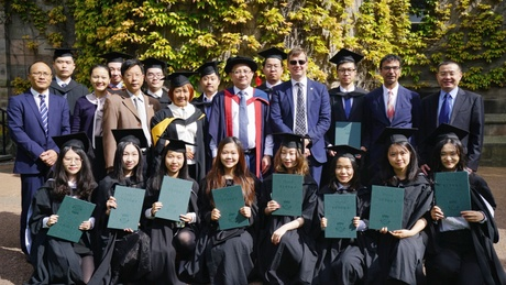 The graduating cohort of business students from South China Normal University who graduate on Tuesday