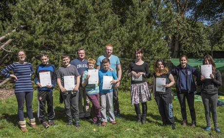 Young carers presented with John Muir Award at the University of Aberdeen