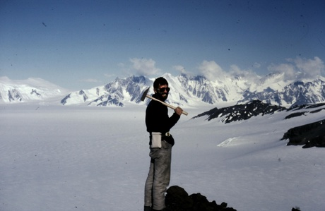 Dr Malcolm Hole during his time in the Antarctic in the 1980s