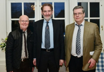 David McKenzie, Professor Sir Ian Diamond and John Gash