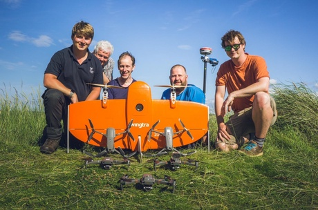 UAV Aberdeen University team with commercial partners