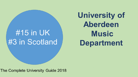 Music Department ranked third in Scotland