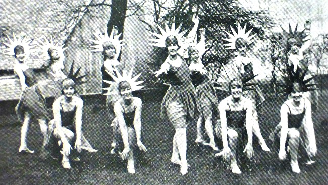 "The ""Micros"" Chorus from 1928's Opening Number"