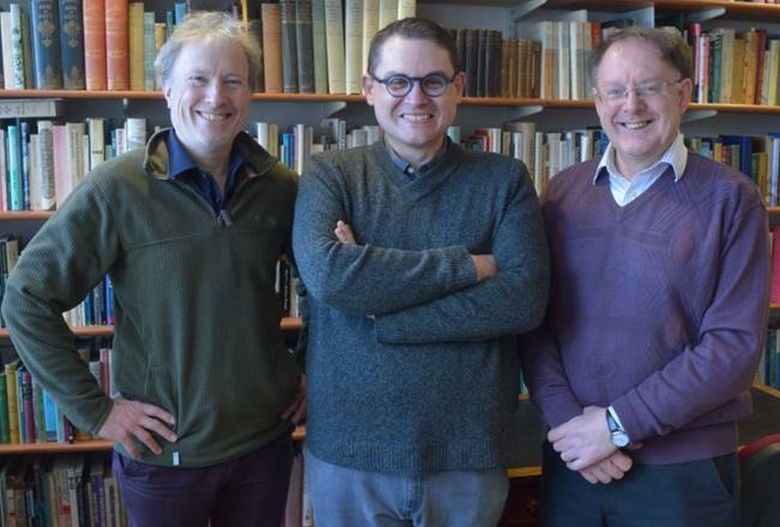 Dr Thomas McKean, Director of the Elphinstone Institute, Prof. Paul Mealor, and Gordon Hay