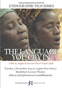 The language you cry in poster
