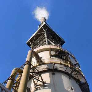 Cement Plant Exhaust Stack
