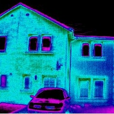 Thermograph of House Wall