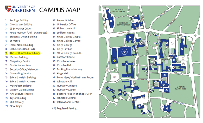 university of aberdeen campus map Venue What S On The University Of Aberdeen university of aberdeen campus map