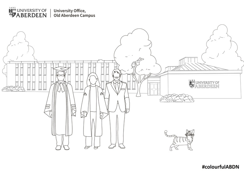 University Office Colouring in Template
