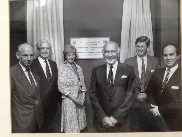 The official opening of the Research Unit in 1988