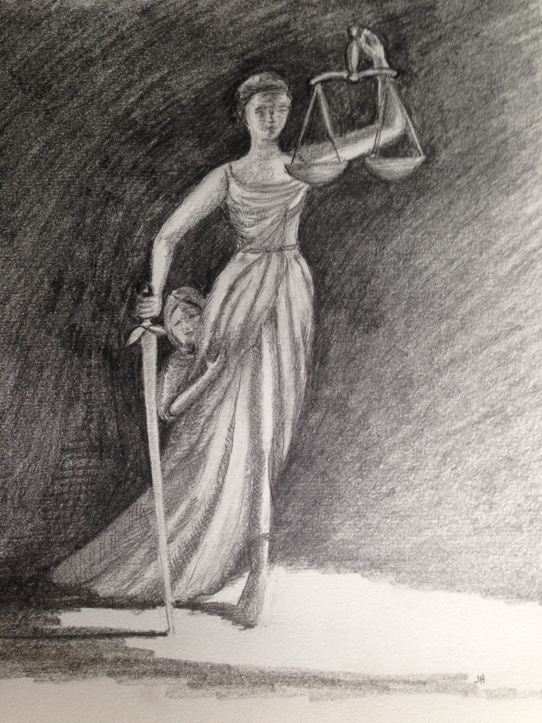 Figure 1 'Justice and the Child' by Jayne Holliday ©