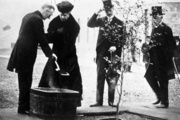 Queen Mary plants a tree