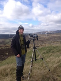 Peter Horvarth at the Griffin wind farm in Perthshire