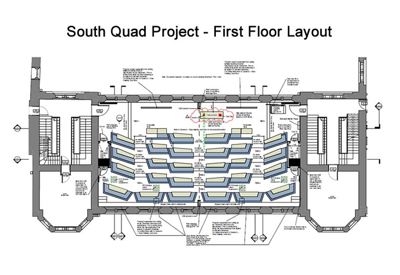 South Quad Project – First Floor layout