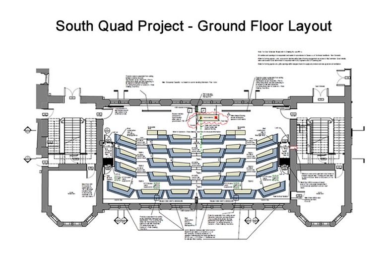 South Quad Project – Ground Floor layout