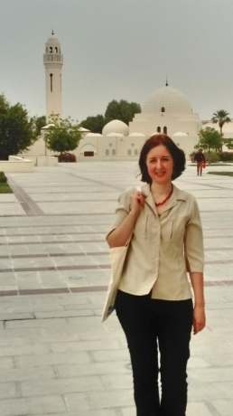 Dr. Irene Couzigou at the University of Qatar Campus in Doha