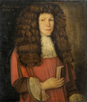 Portrait of unknown student, 17th century