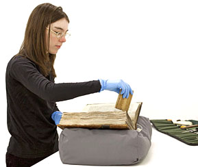 Rare book conservation