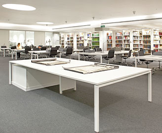 Image: inside the Wolfson Reading Room