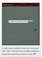 Zoho chat box