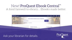 ebrary changing to Ebook Central