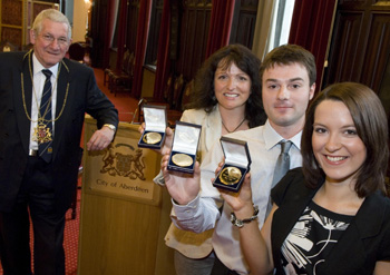 Lord Provost Peter Stephen, Susan Macfadyen, Jamie Kerr and Lynsey Hamilton - image provided by Aberdeen City Council